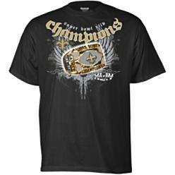Reebok NFL Super Bowl XLIV Champs Saints Ring Shirt