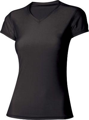 A4 Womens Short Sleeve Compression V Neck Shirt