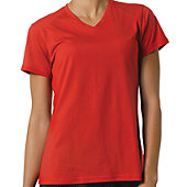 A4 WOMENS SHORT SLEEVE FUSION V-NECK