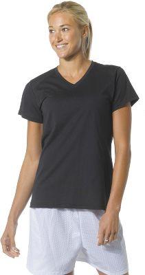 A4 Womens Short Sleeve Fusion V Neck Shirt