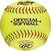 "Rawlings 12"" Official League Fastpitch Practice Softball (Do"