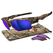 Oakley King's Camo Polarized Fast Jacket XL Sunglasses