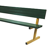 Jaypro 15' Permanent Bench With Back (no paint)
