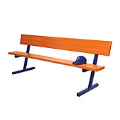 JAYPRO 7.5FT PERMANENT BENCH WITH BACK-NO PAINT
