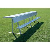 Jaypro 15' Player Bench With Shelf