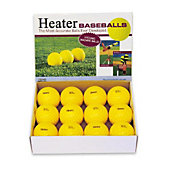 Heater Sports Pitching Machine 9-Inch Yellow Baseballs  (Pack of 12)