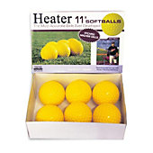 "Heater Sports Pitching Machine 11"" Yellow Softballs  (Pack o"