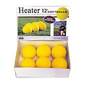 "Heater Sports Pitching Machine 12"" Yellow Softballs  (Pack of 6)"