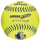 "Worth 12"" USSSA Pride Fastpitch Softball (Dozen)"