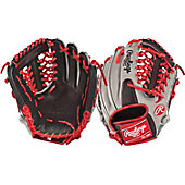 "Rawlings Heart of the Hide Black/Grey/Red Mod-Trap 11.5"" Baseball Glove"