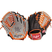"Rawlings Heart of the Hide Black/Orange 11.5"" Baseball Glove"