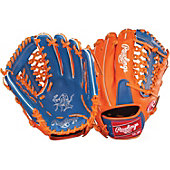 "Rawlings Heart of the Hide Royal/Orange 11.5"" Baseball Glove"