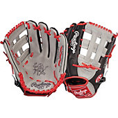 "Rawlings Heart of the Hide Grey/Black/Red Pro-H web 12.75"" Baseball Glove"