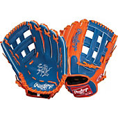 "Rawlings Heart of the Hide Royal/Orange 12.75"" Baseball Glove"