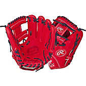 "Rawlings Pro Preferred Scarlet/Navy 11.5"" Baseball Glove"