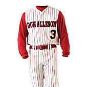 Alleson Youth Pinstripe Vest Baseball Jersey