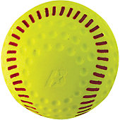"Baden 12"" Red Seam Yellow Dimple Softball (Dozen)"