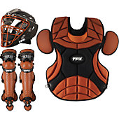 Louisville Pulse Static Blk/Brnt Org Adult Catcher's Set