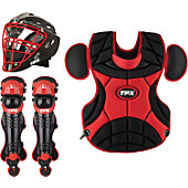 Louisville Pulse Static Black/Red Adult Catcher's Set