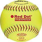 "Worth 11"" ASA Red Dot Fastpitch Softball (Dozen)"