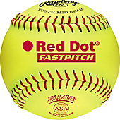 "Rawlings 11"" ASA Red Dot Pro Leather Fastpitch Softball (DZ)"