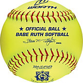 "Worth 11"" Yellow Babe Ruth League Fastpitch Softball (Dozen)"