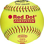 "Rawlings 12"" ASA Red Dot Pro Leather Fastpitch Softball (DZ)"