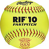 "Rawlings 12"" ASA Pro Tac RIF 10 Fastpitch Softball (Dozen)"