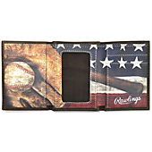 Rawlings Benton Park Leather Tri-Fold Wallet