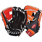"Rawlings RCS Series 11.5"" Baseball Glove - Blk/Org"