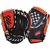 "Rawlings RCS Series 12"" Baseball Glove - Blk/Org"