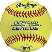 Rawlings Optic Yellow Leather Training Baseball (Dozen)
