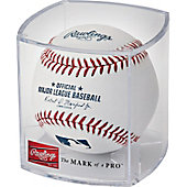 Rawlings Official Major League Baseball with Display Cube