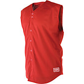 Rawlings Adult Sleeveless Full Button Baseball Jersey
