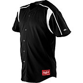 Rawlings Youth Full Button Mesh Baseball Jersey