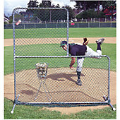 "Jugs Sports 6'5""X 6'5"" Pitcher's L-Screen"