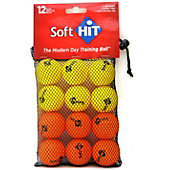 SOFTHIT GOLF BALL SIZE TRAINING BALLS (6 OF EA CO)