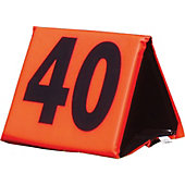 FISHER VINYL COVERED SIDELINE MARKERS ORG# ON BLK