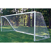 Gared 8-Foot x 24-Foot FIFA-Style 4 MM White Soccer Net