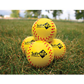 Soft HIT Seamed Foam Practice Softballs - Yellow (6 Pack)