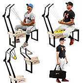 Sling Pitcher Pitching and Training Machine with Fly Ball Ad