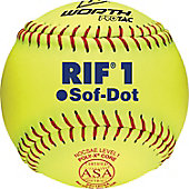 "Worth 11"" RIF Level 1 Sof-Dot Fastpitch Softball (Dozen)"