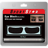 SportStar Pro-Style Eye Stickers with Pencil (10 Pairs)