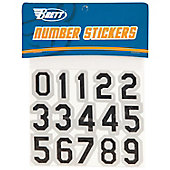 Brett Bros. Helmet Number Sticker Set