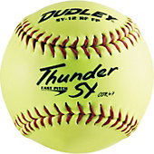 "Dudley 11"" ASA Synthetic Yellow Fastpitch Softball (Dozen)"