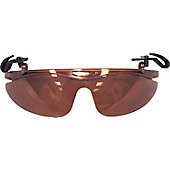 Brett Bros Baseball Cap Narrow-Lens Flip Sunglasses