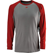 New Balance Men's Long-Sleeve Raglan Baseball Tech Jersey