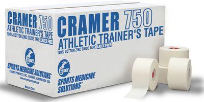 """Cramer 1.5"""" White Athletic Tape - Case"""