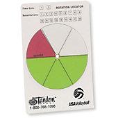 Tandem Sports Volleyball Rotation Locator