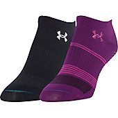 Under Armour Women's III No Show Socks (2 Pack)